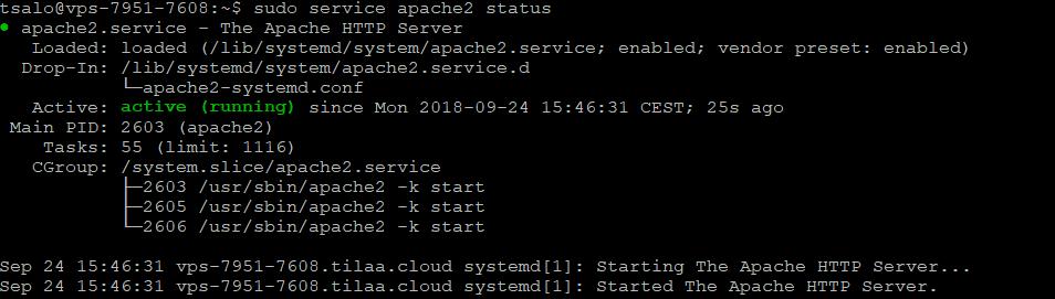 Apache Ubuntu 18.04